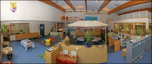 Stepping Stones Child Care Co-operative has bright, kid friendly rooms!